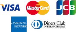 visa,master card,jcb,AMERICAN EXPRESS,Diners Club INTERNATIONAL